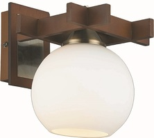 Бра Altalusse INL-3089W-01 Antique brass & Walnut Е27 1Х60Вт