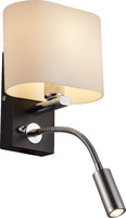 Бра Altalusse INL-3095W-02 Chrome & Wengue Е14 1х40W+1хLED 3Вт