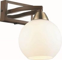 Бра Altalusse INL-9268W-01 Antique brass & Walnut E27 1х40Вт