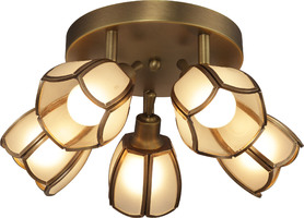 Спот Altalusse INL-9317C-05 Golden Brass Е14 5х40Вт